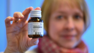 Sköldkörtelmedicinen Thyroxin.