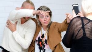 Janne Grönroos och Emma Kemppainen förevigas till Instagram.