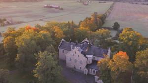 Svidja slott i Sjundeå sett från luften.