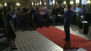 Kör i Berlin som sjunger på hebreiska.