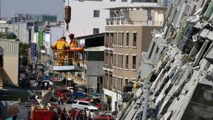 Jordskalv i Tainan i Taiwan, 6 februari 2016.