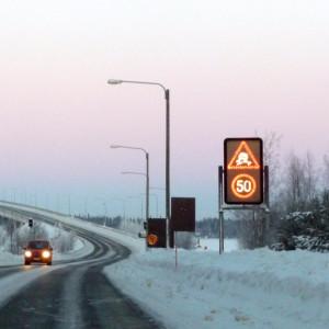 Halkvarning på Replotbron.