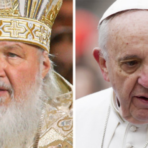 Påven och patriarken träffas