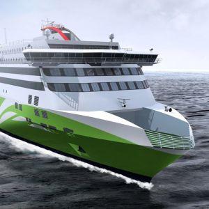 Tallinks nya fartyg Megastar ska se ut så här.