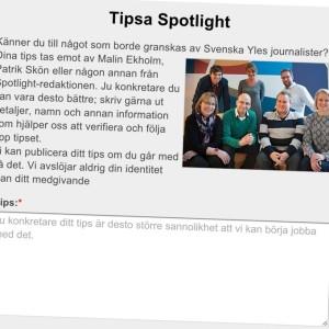 Spotlights webbsida