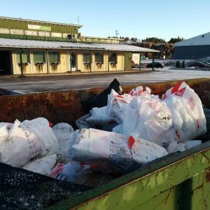 Avfallsstationen i Korvenmäki i Salo