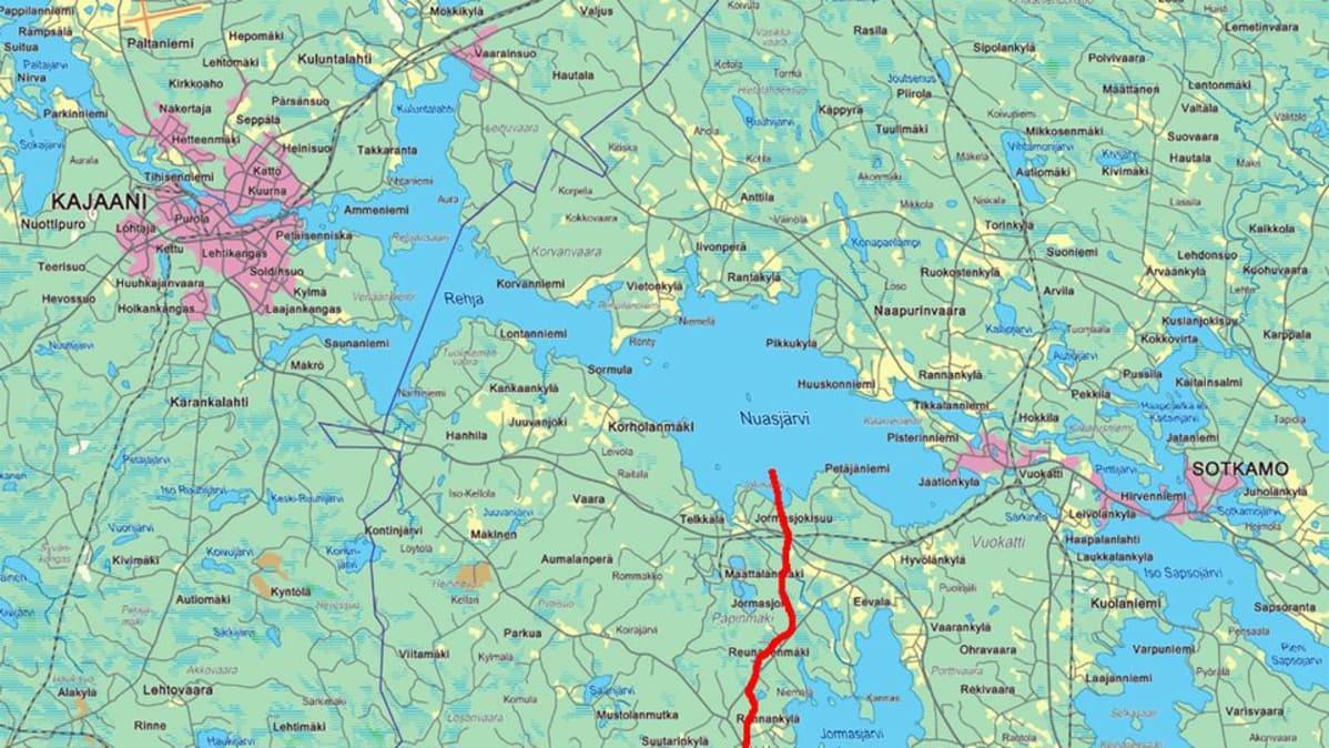 Nuasjärvi Kartta
