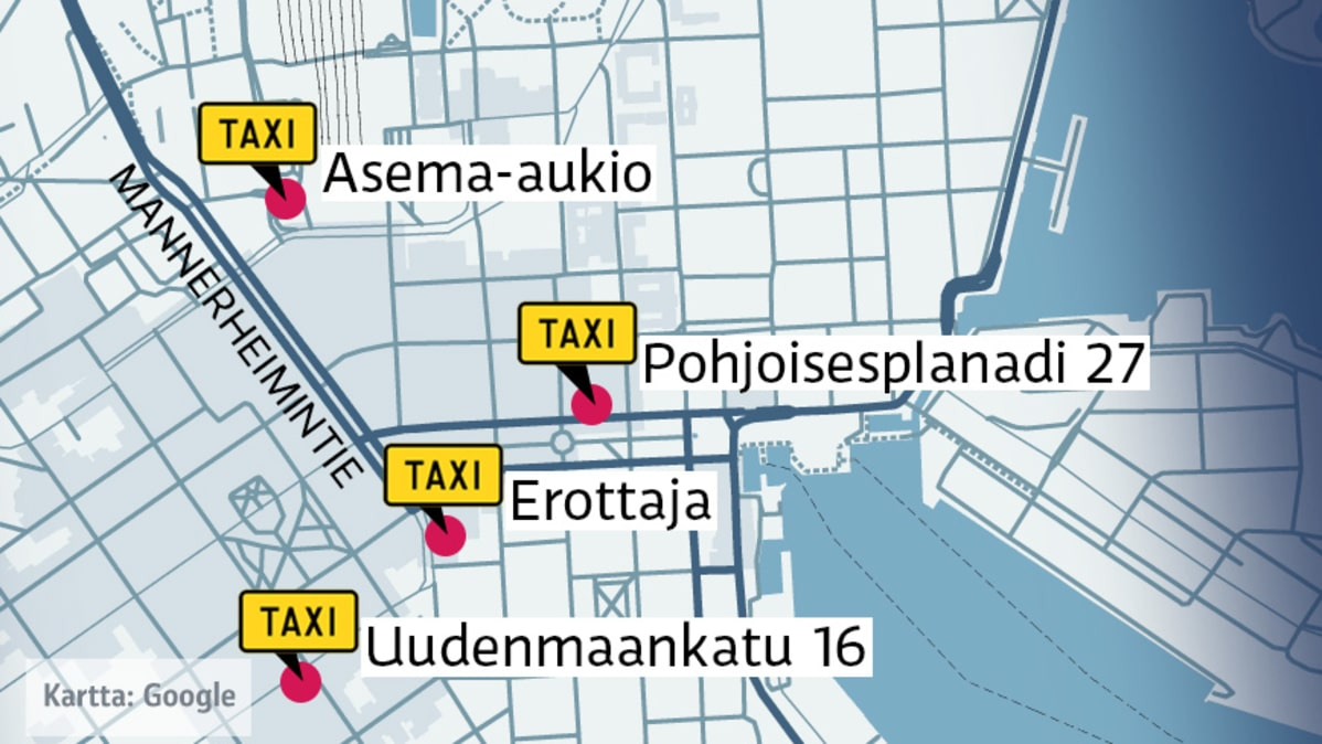 Taksitolpat Helsinki Kartta | Kartta