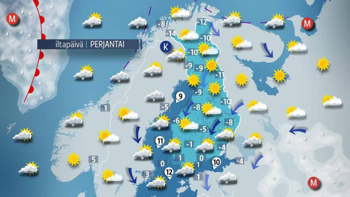 Sää kylmenee koko maassa - lunta tulee enimmillään 10 senttiä | Yle Uutiset | yle.fi