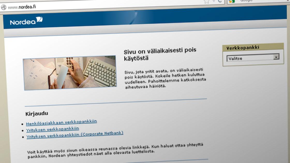 Nordean nettisivut takkuavat jälleen   Yle Uutiset   yle.fi