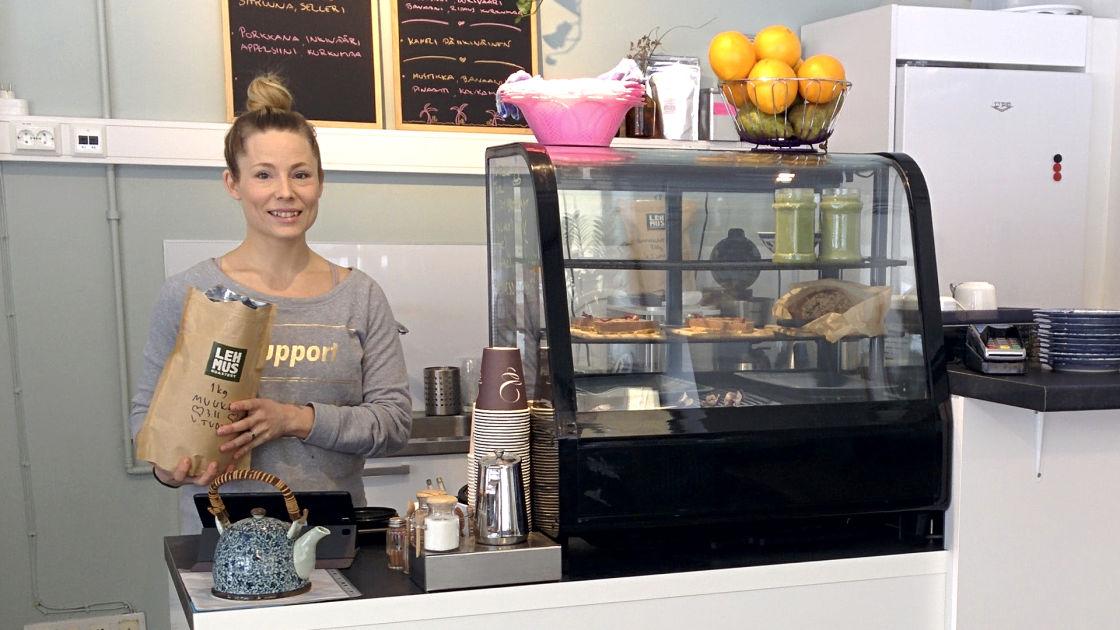 Kahvila unelma toteutui Lappeenrannassa – pieni kahvila keskittyy terveellisi