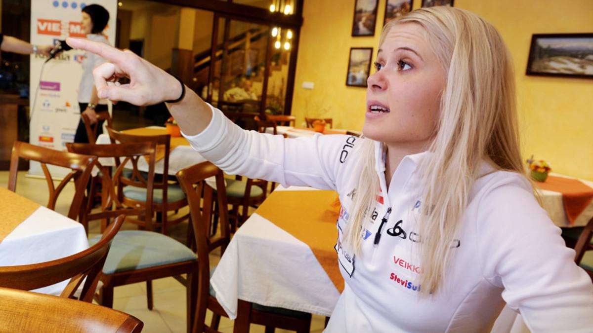 Mari Laukkanen rosvojahdissa MM-kisoissa - katso video