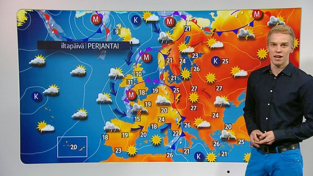 Viikonloppua vietetään monin paikoin helteisessä säässä   Yle Uutiset   yle.fi