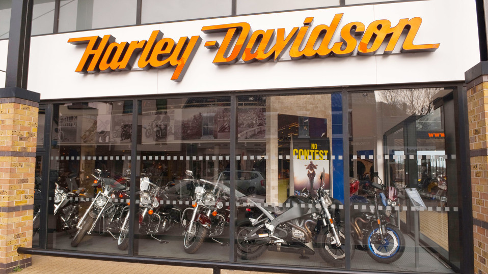 Harley Davidson myymälä.