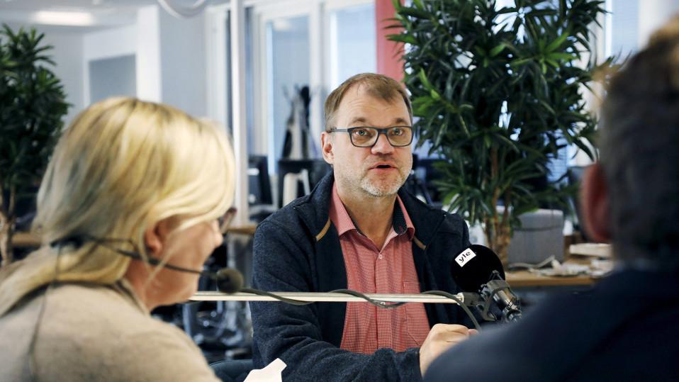 Pääministeri Juha Sipilä pääministerin haastattelutunnilla Oulussa 14. lokakuuta.
