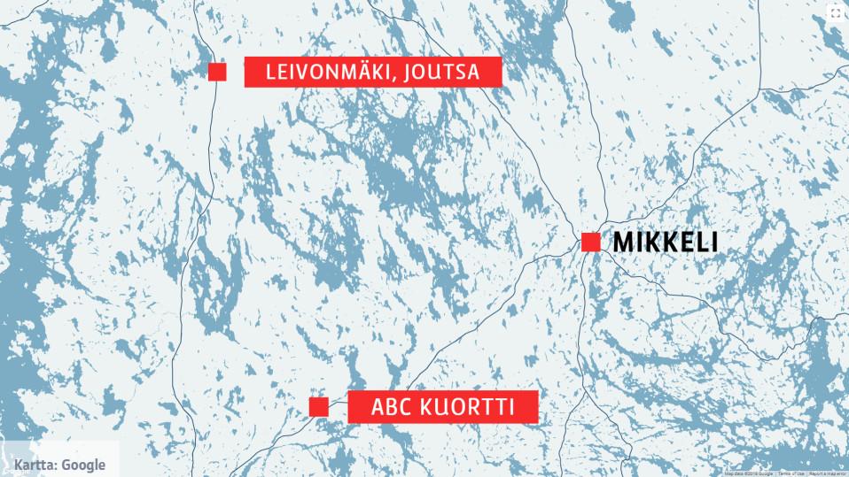 Kuortin poliisioperaatio: Henkirikos tapahtui yksityisasunnossa kymmenien kilometrien päässä eristetystä ABC:n pihasta, neljä otettu kiinni rikoksesta epäiltynä