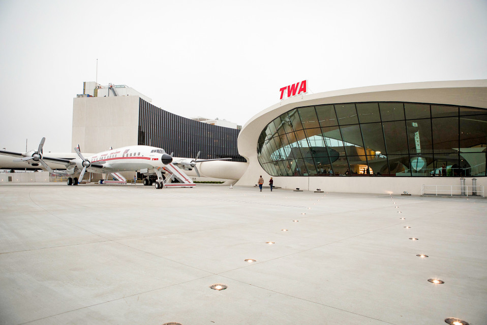 TWA Trans World Airways hotelli NYC John F. Kennedy lentokenttä New York.