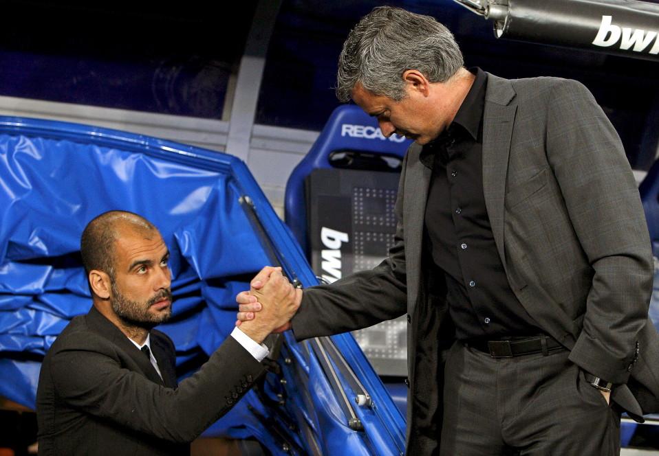 Guardiola ja Mourinho 2011