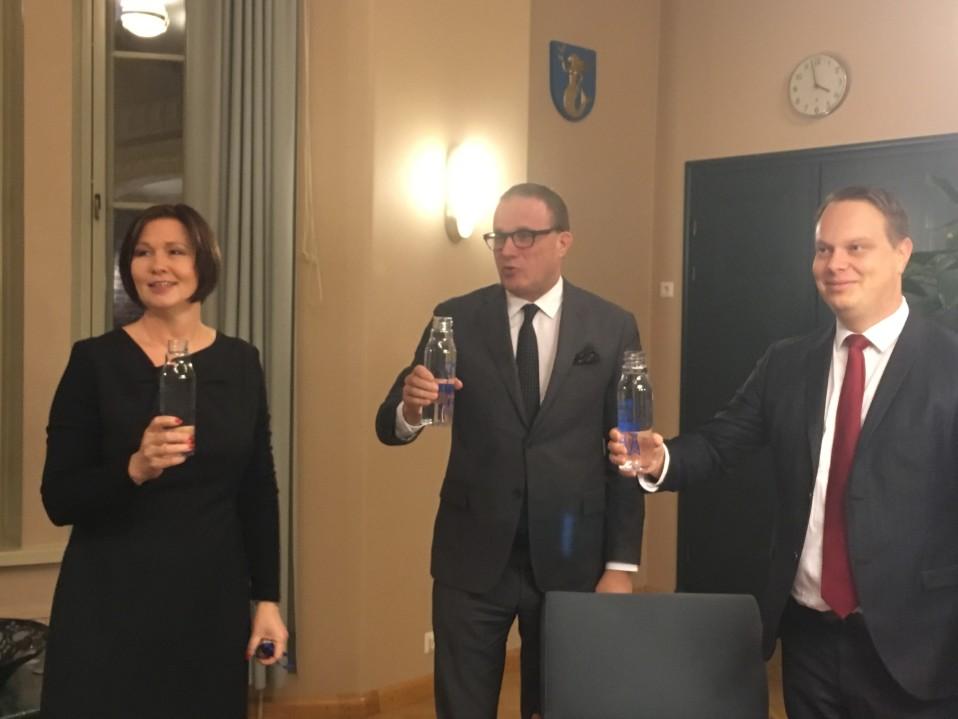 Milla Bruneau, Pekka Timonen ja Pekka Komu