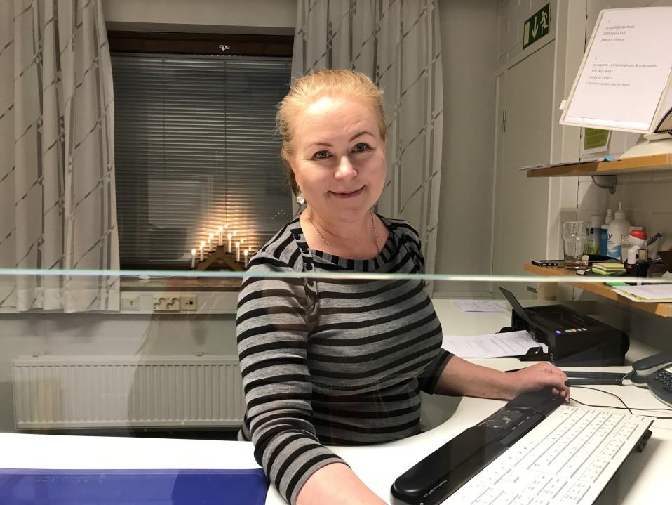 Arja Jomppanen Kelan saamenkielisessä palvelussa