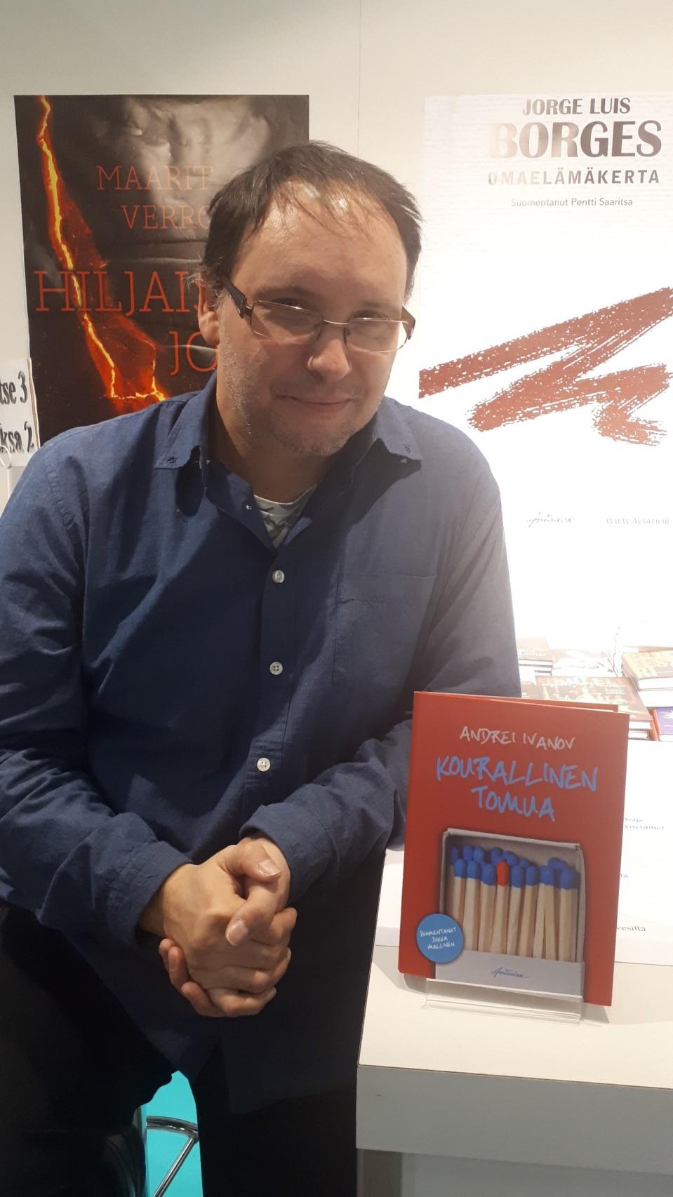 Андрей Иванов на книжной ярмарке в Хельсинки