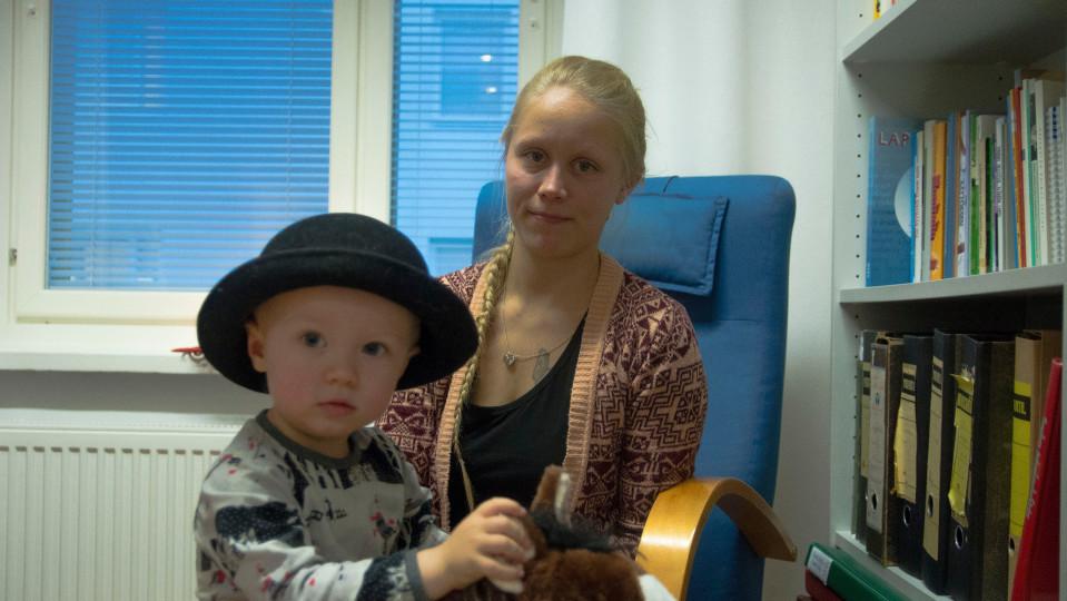 Kirsi Kemppainen ja Eino-poika