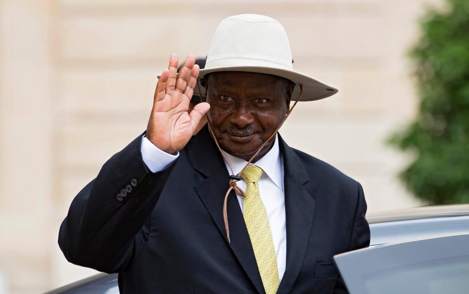 Ugandan presidentti Yoweri Musevin havittelee kuudetta jatkokautta.