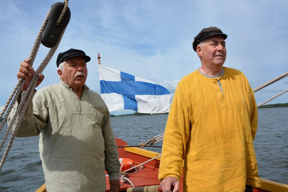 Vesa Heinonen ja Jan-Ola Sund ovat olleet mukana koko jahdin 20-vuotisen toiminnan ajan