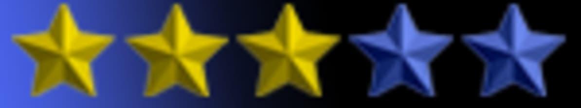 Tähtihetken kolme tähteä valittuna