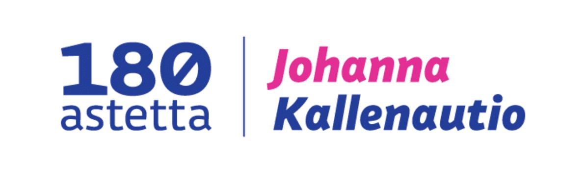 180 astetta Johanna Kallenautio tekstivinjetti