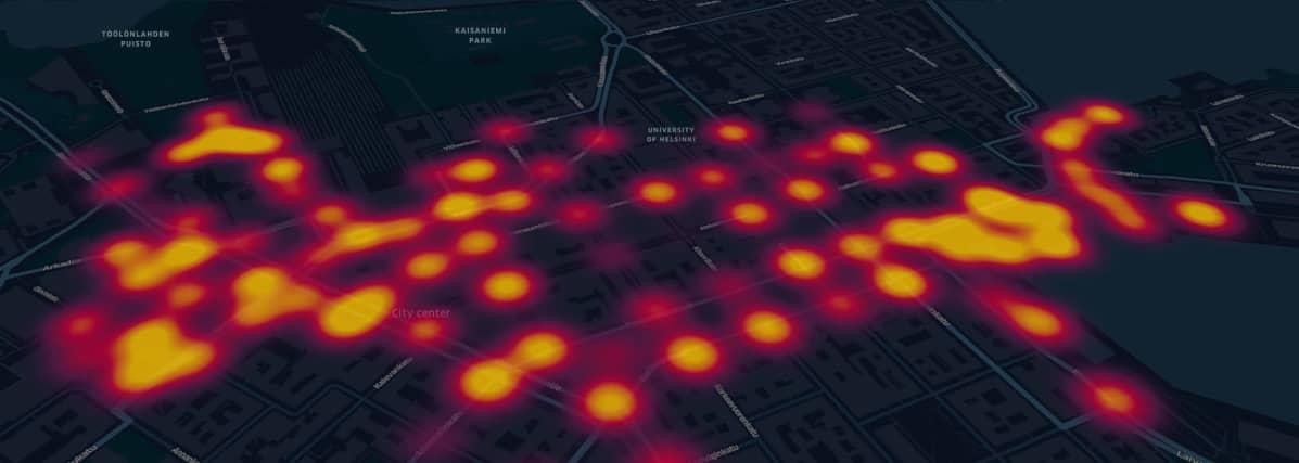 Hypercellin luoma referenssikuva siitä miltä tuleva heatmap-kartta voisi näyttää.