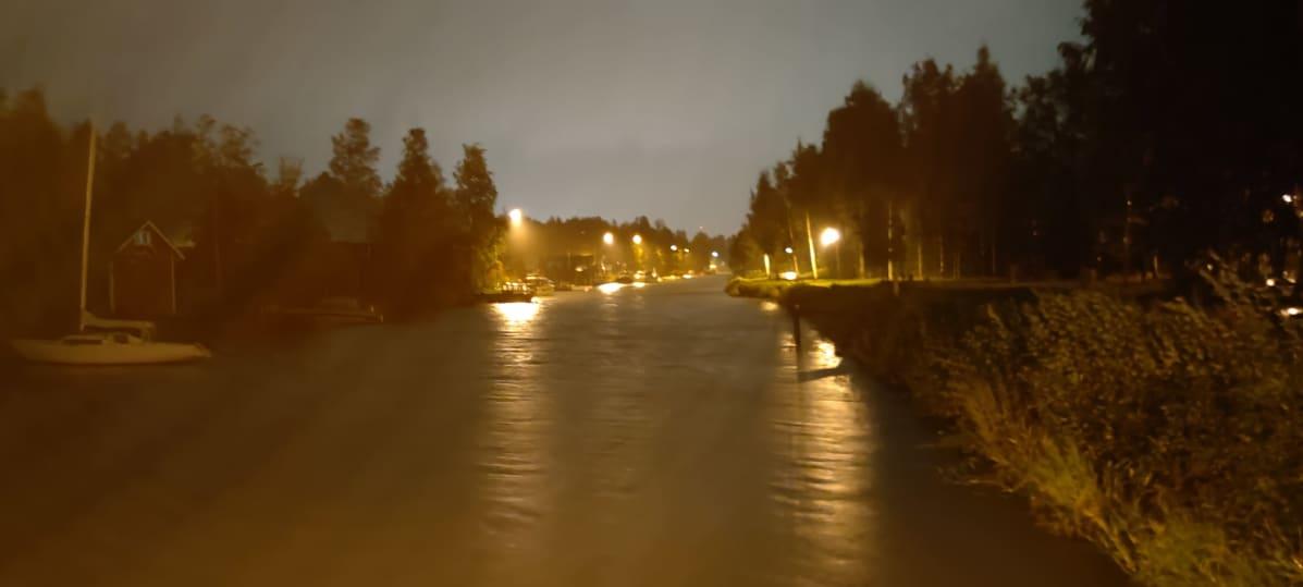 Aila-myrsky Kokkolassa