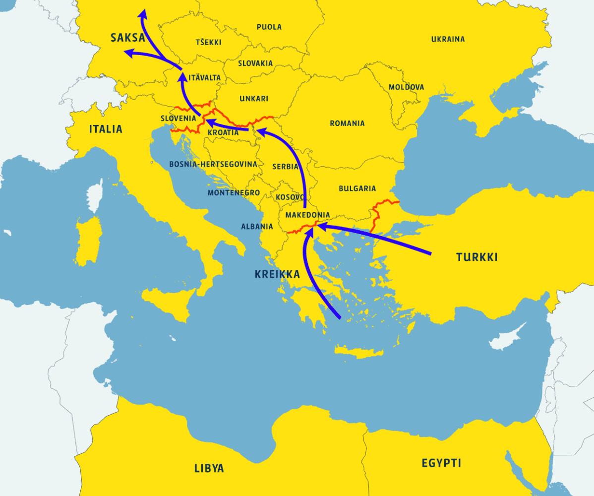 Balkanin Reitti Meni Kiinni Minne Pakolaisvirrat Seuraavaksi