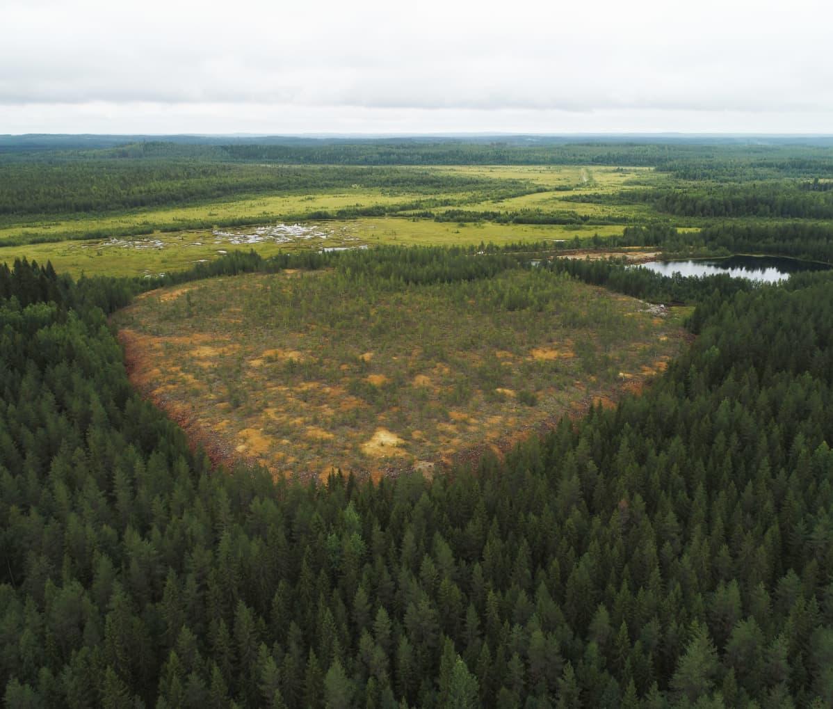 Ilmakuva Kangasjärven kaivosalueen ympäristövaikutuksista