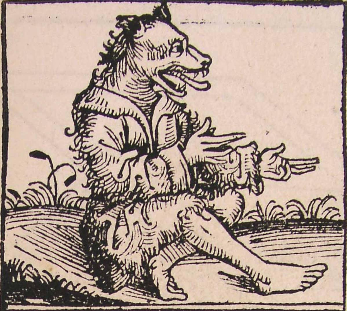 Koirankunolainen, muinainen taruolento jolla oli ihmisen vartalo ja koirankaltainen pää.