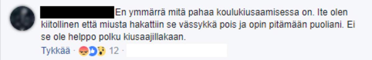 Facebook-kommentti