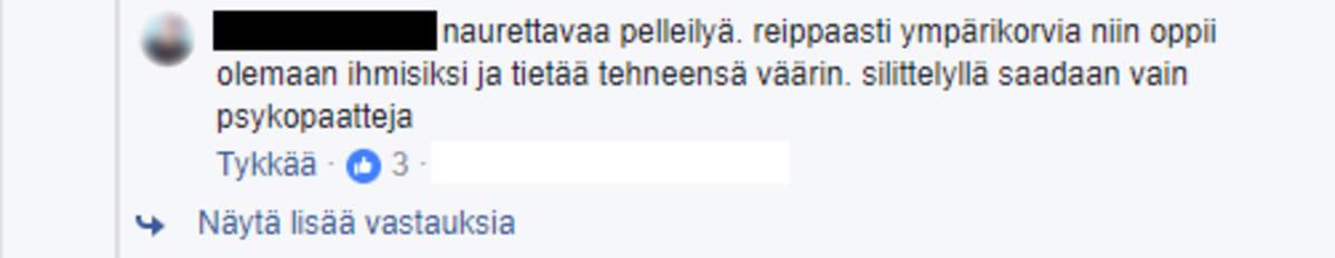 Facebook-teksti