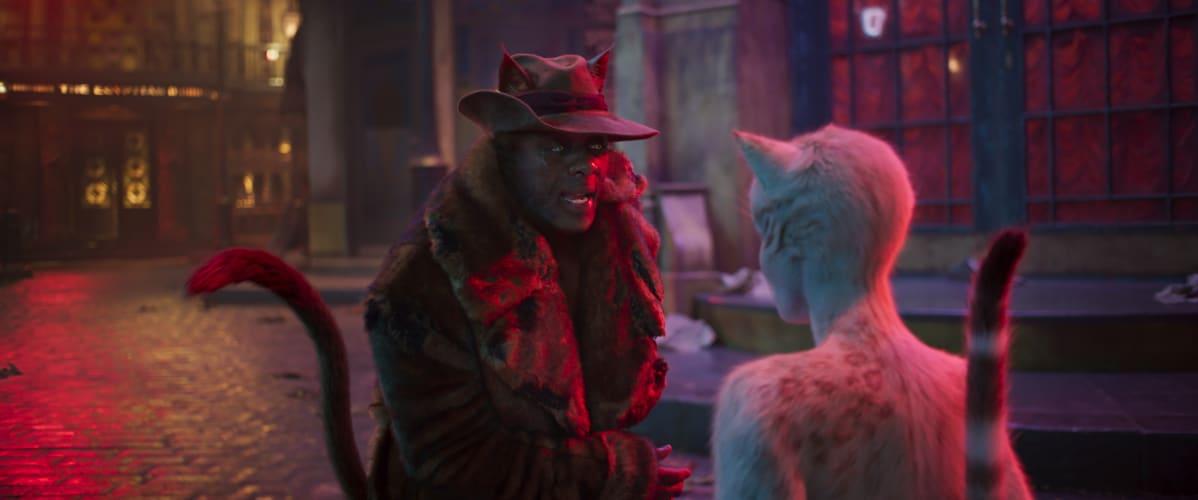 Cats-elokuvan pääpahis Macavity (Idris Elba) ja päähenkilö Victoria (Francesca Hayward)  esiintyvät tarinassa, jossa ei ole juurikaan juonta.
