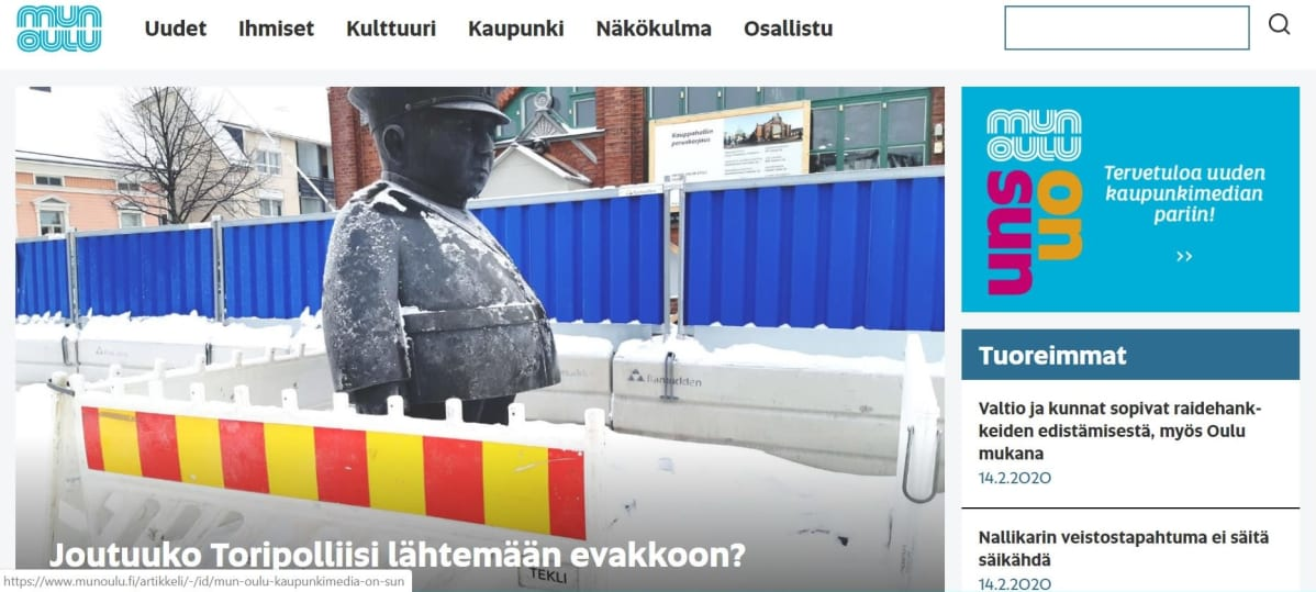 Mun Oulun verkkosivut.