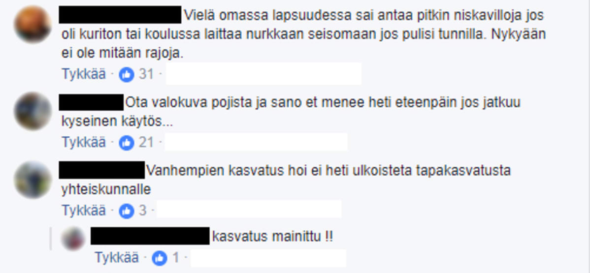 Facebook-kommentteja
