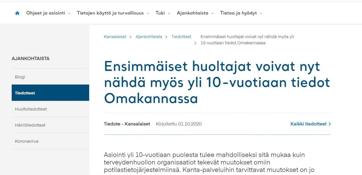 Ruutukaappaus Kelan sivulta.