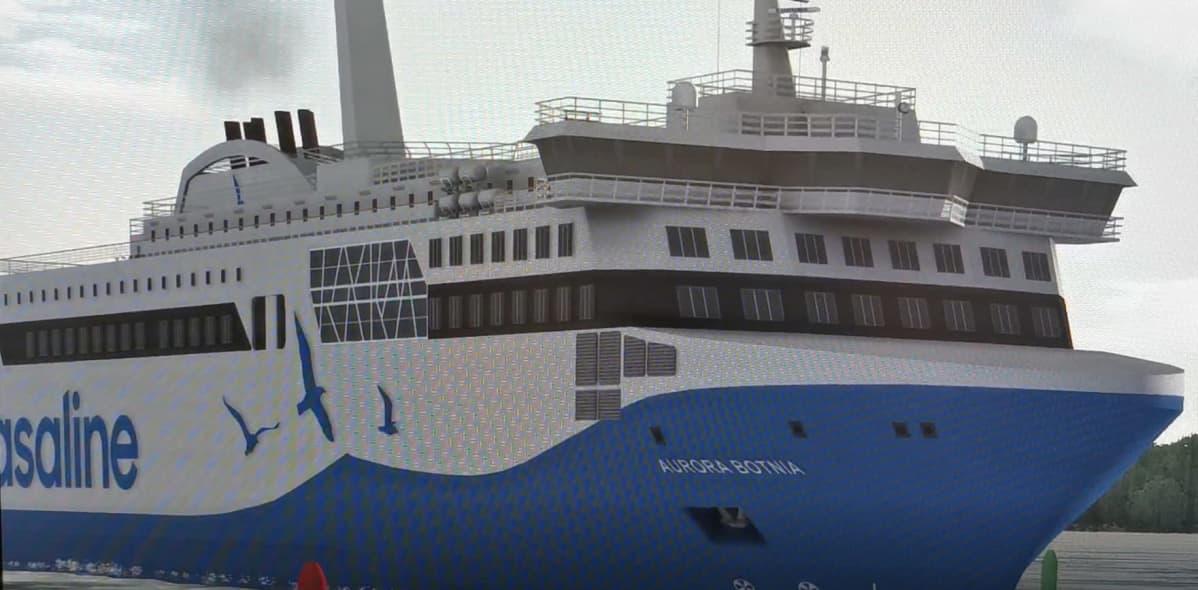 Simulaattorikuva Aurora Botnia -aluksesta