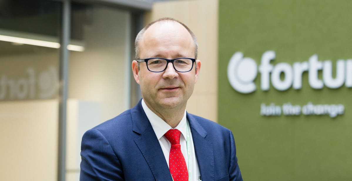 Fortumin kaukolämpöliiketoiminnan johtaja Mikael Lemström