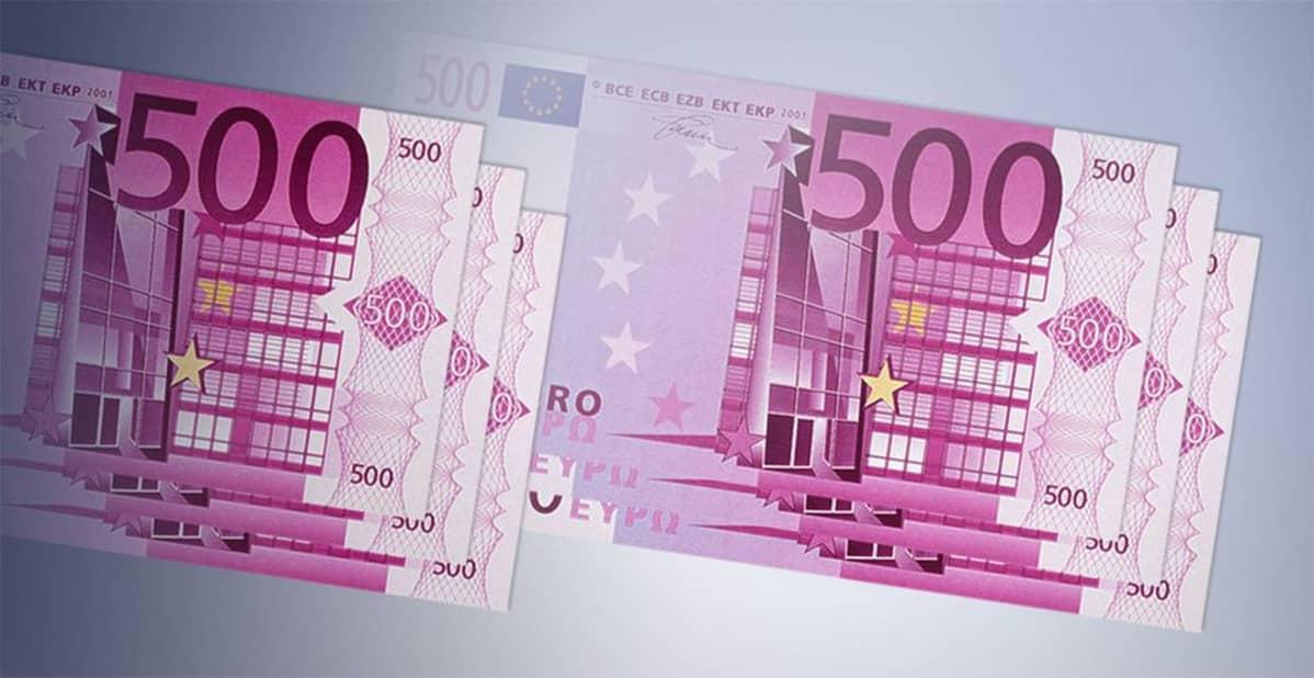 500 euron seteleitä