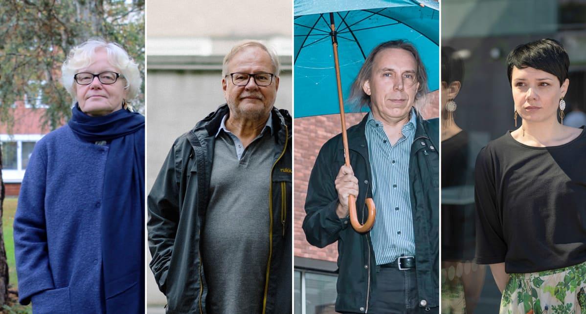 Anneli Pohjola, Markku Pekurinen, Teppo Kröger, Liina-Kaisa Tynkkynen.