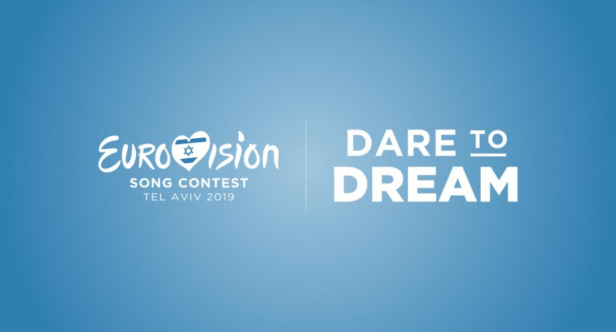 Euroviisujen logo ja iskulause.