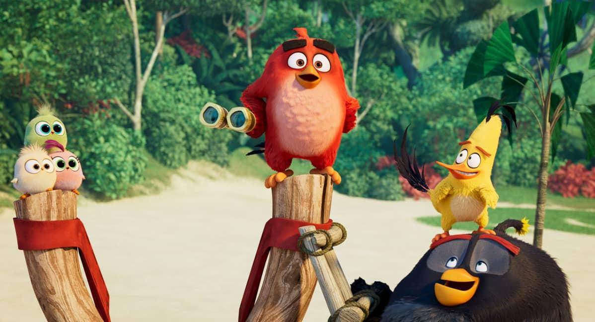 Angry Birds -elokuva 2: Tirpanat, Red, Sakke ja Pommi.