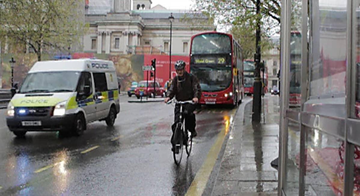 liikennettä lontoossa