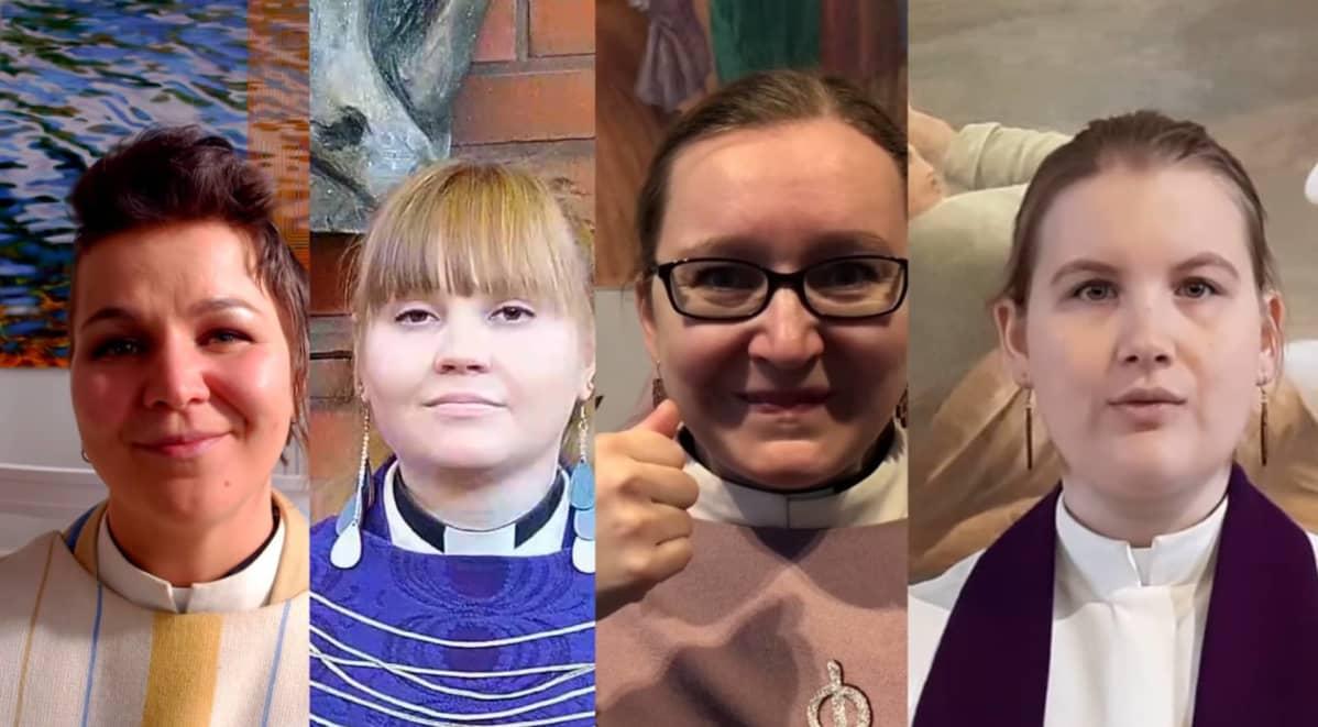 Syntisten pöytä on katettu -videolla esiintyy neljä evankelisluterilaista pappia eri seurakunnista.