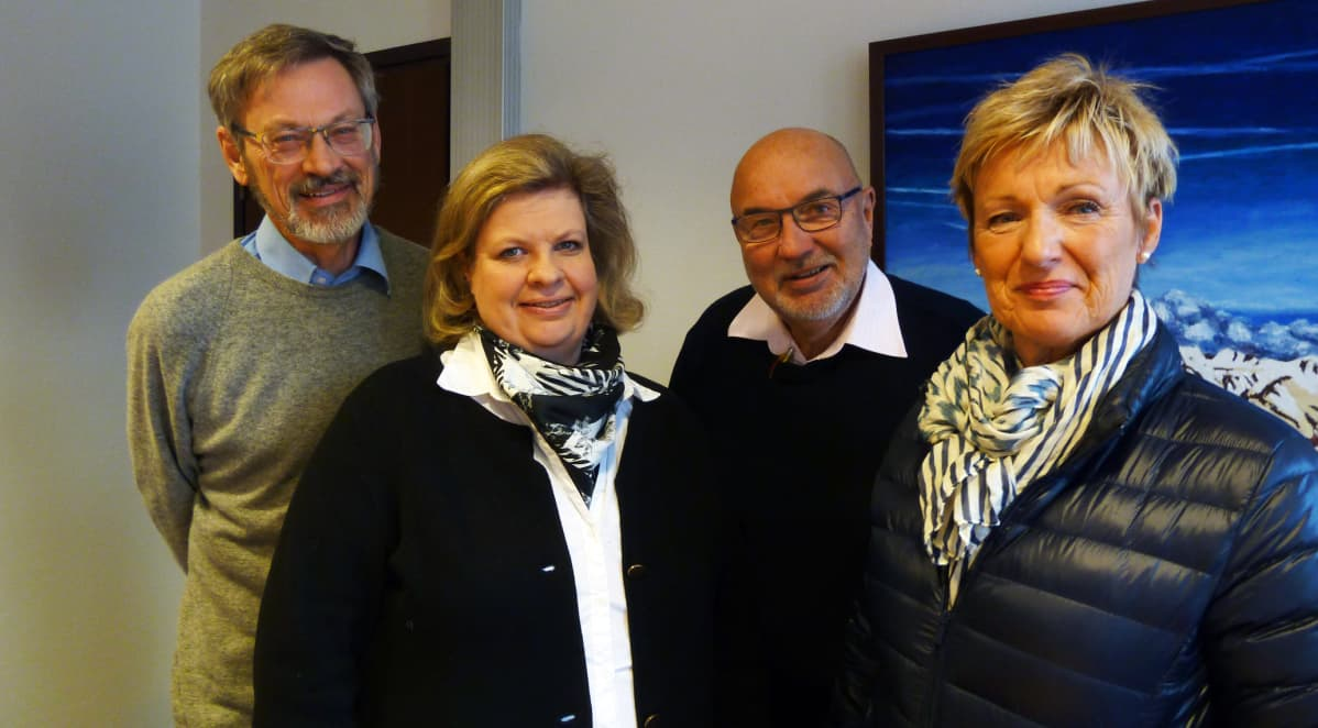 Michael Luther, Johanna Nyman, Lars Gästgivars, Monica Sirén-Aura